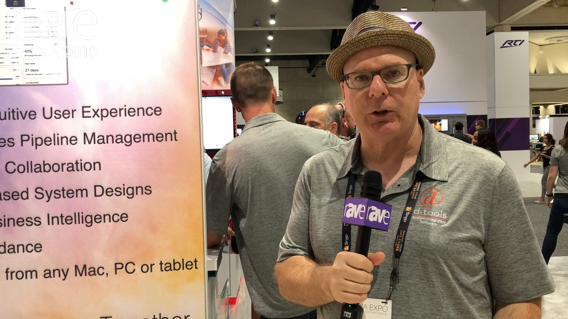 CEDIA 2018: D-Tools Talks About Its D-Tools Cloud Sales, Design, Operations and Management Software