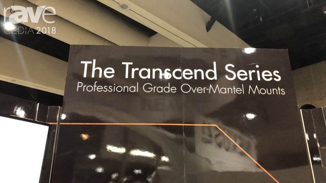 CEDIA 2018: Nexus 21 Features Transcend Pro Series of Professional Grade Over-Mantel Mounts