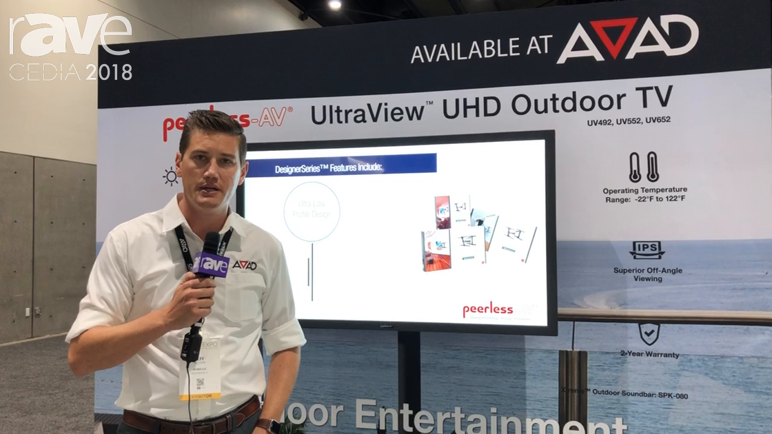 CEDIA 2018: Peerless-AV Exhibits Its UltraView UHD Outdoor TV at the AVAD Booth