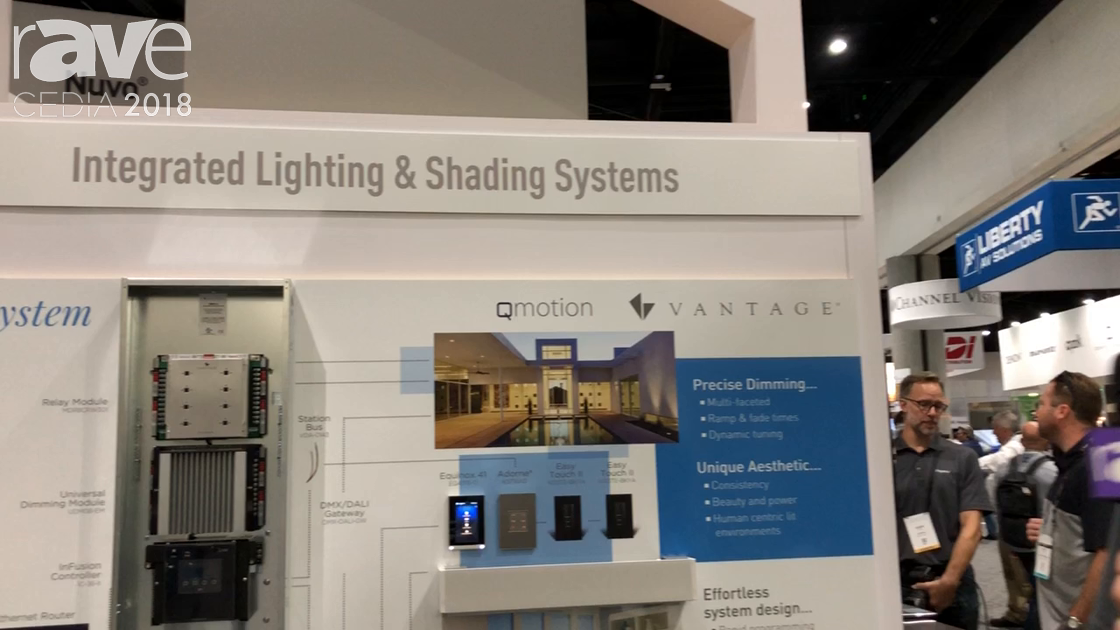 CEDIA 2018: Vantage and QMotion Intro Vantage KST16AD Adorne Keypad, QMotion Teleshade