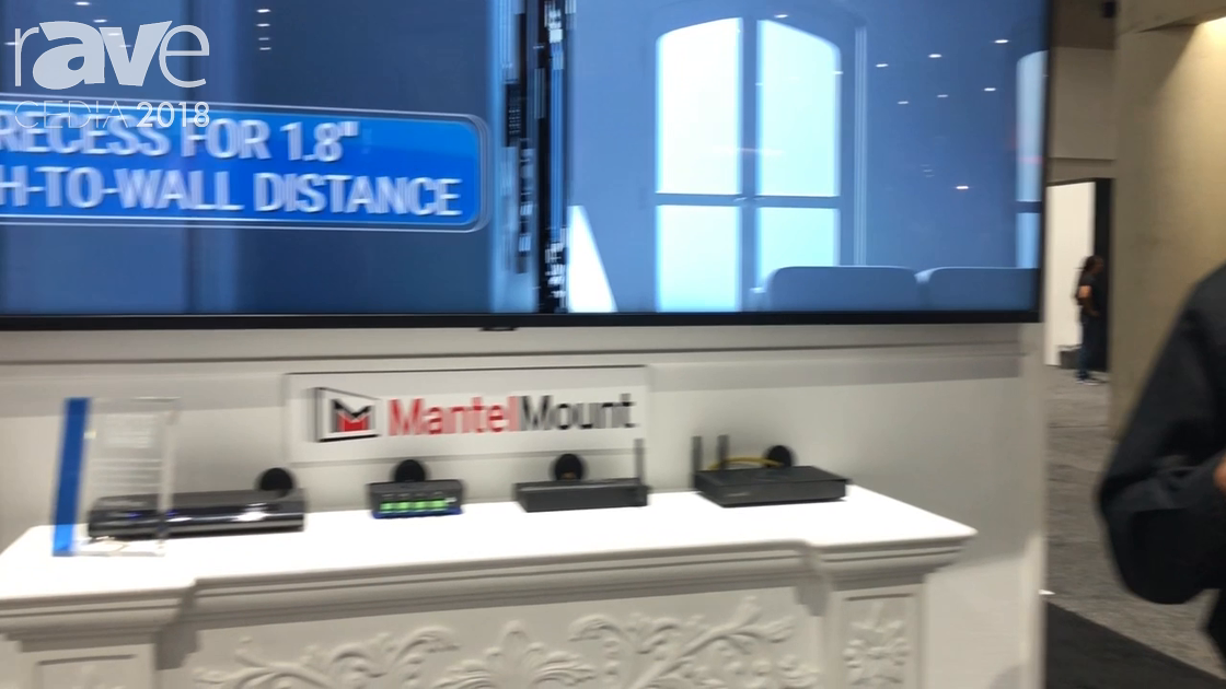 CEDIA 2018: MantelMount Showcases MM855 Over-Mantel Motorized Mount