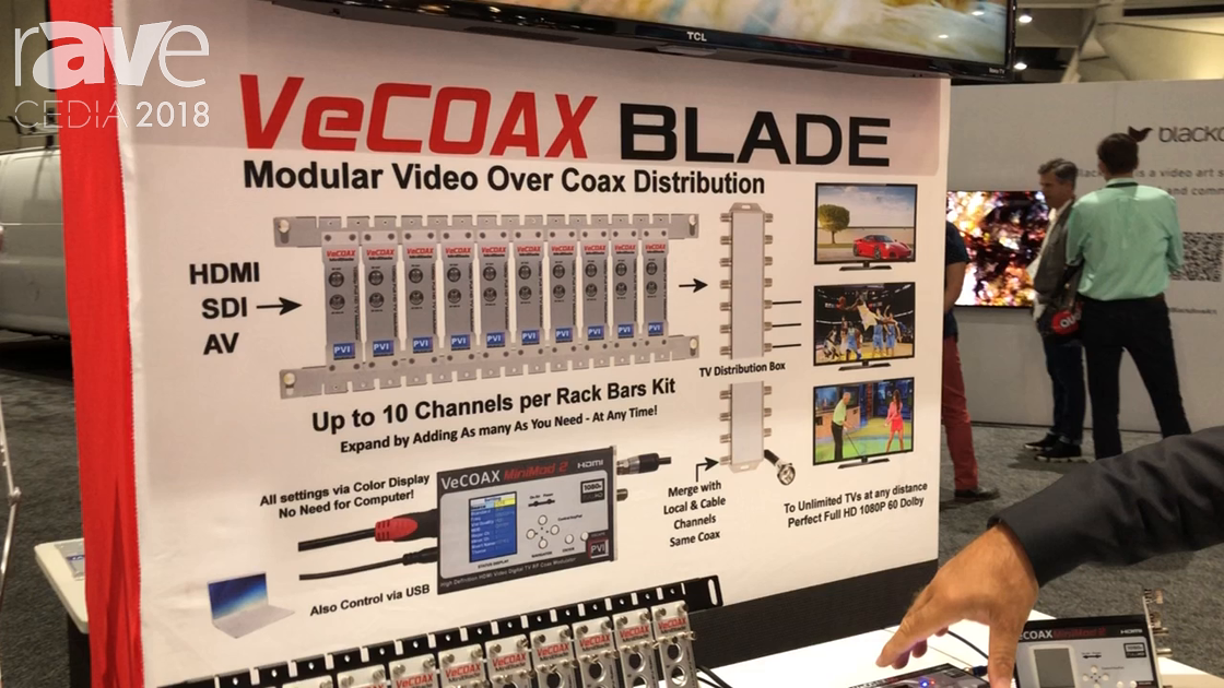 CEDIA 2018: Pro Video Instruments Discusses VeCOAX Blade System for IPTV Applications