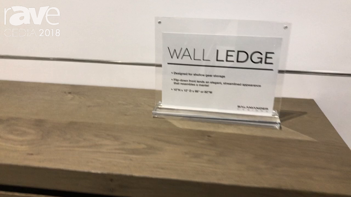 CEDIA 2018: Salamander Designs Debuts Wall Ledge Floating Wall Cabinet