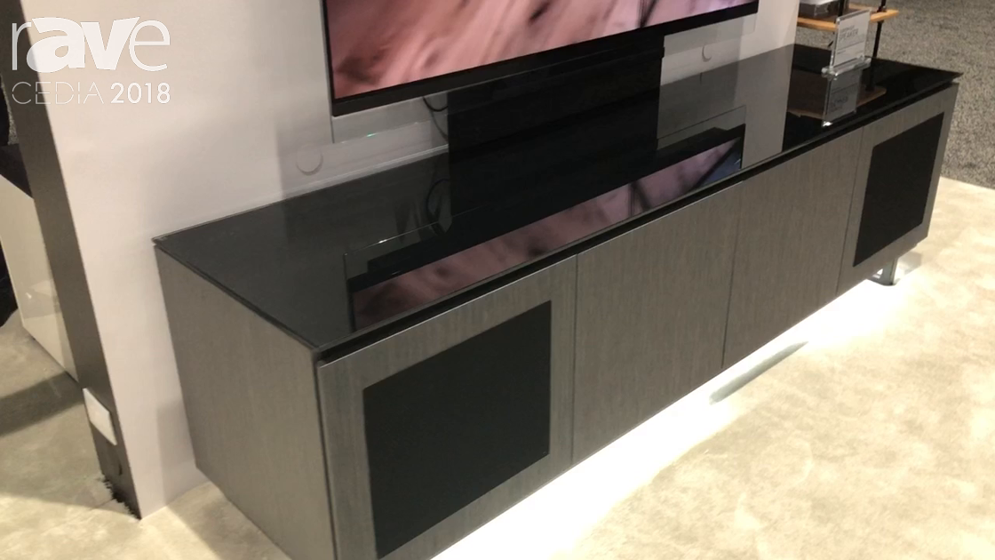 CEDIA 2018: Salamander Designs Presents Camilleon Design Series of Cabinet with Built-In TV Mount