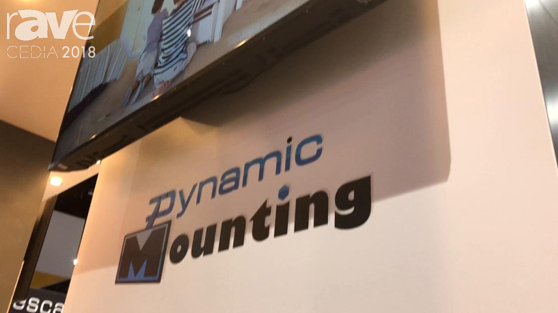 CEDIA 2018: Dynamic Mounting Exhibits Down and Out Mounts, Motorized and Manual Solutions