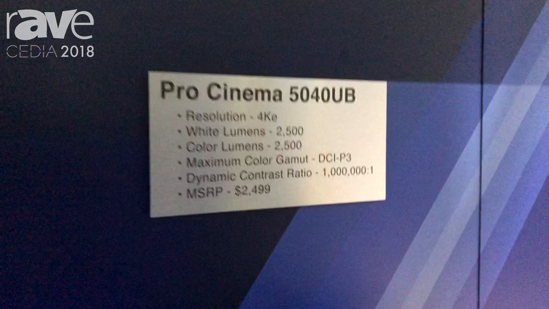 CEDIA 2018: Epson Discusses Pro Cinema 5040UB 4Ke Projector