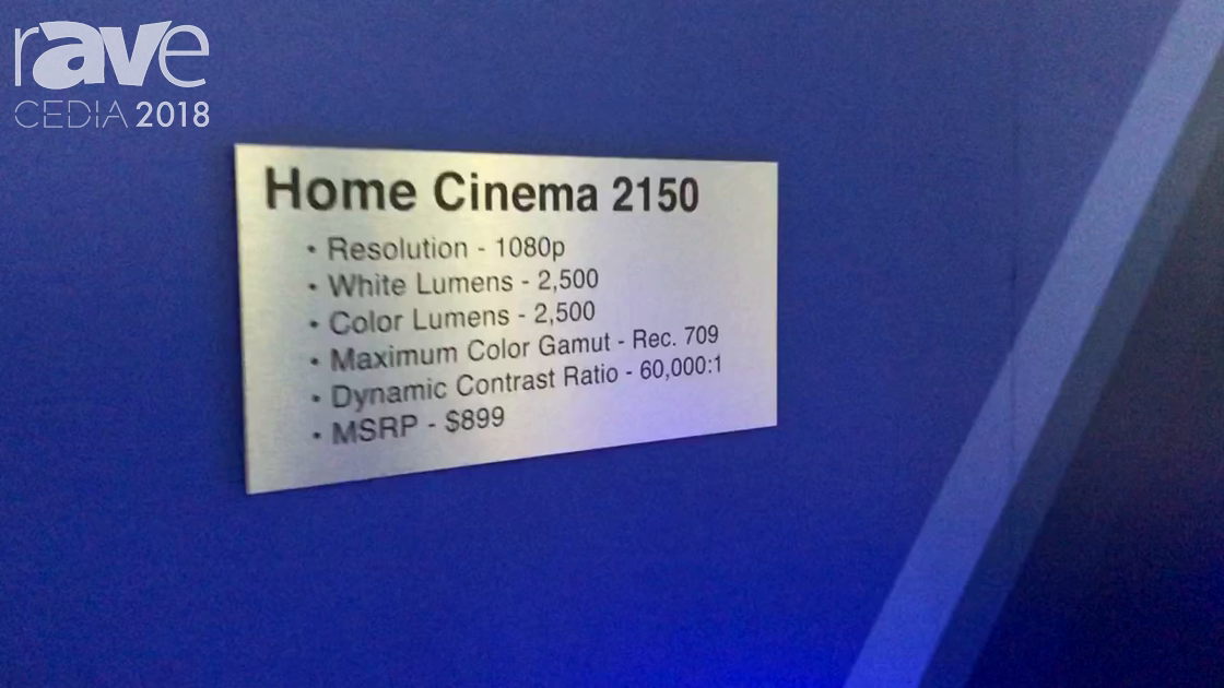 CEDIA 2018: Epson Showcases Home Cinema 2150 Projector