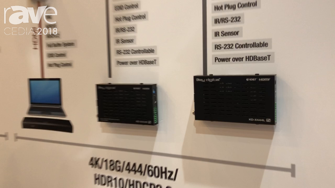 CEDIA 2018: Key Digital Exhibits KD-X444L HDBaseT Extenders
