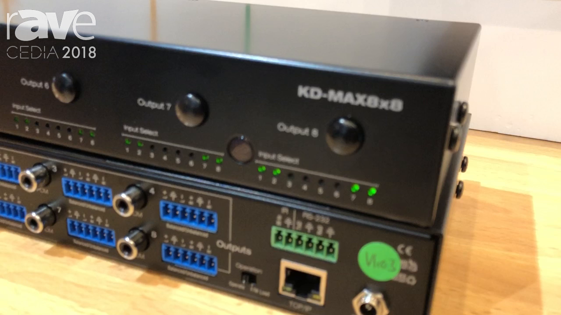 CEDIA 2018: Key Digital Presents KD-MAX8x8 Audio Matrix