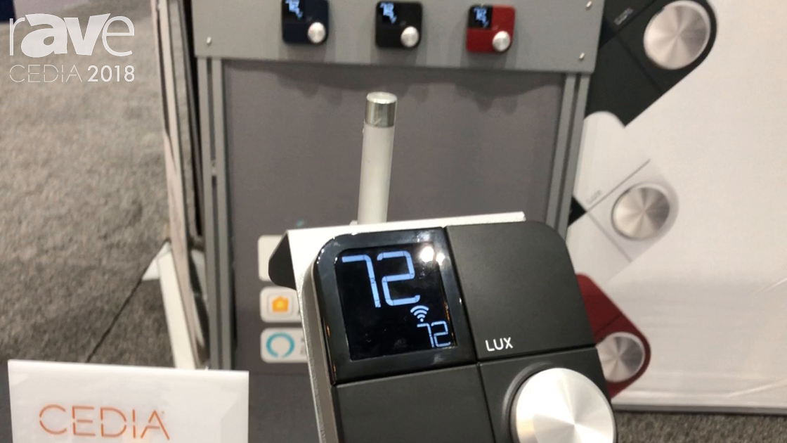 CEDIA 2018: LUX Products Talks About Kono Smart Thermastat