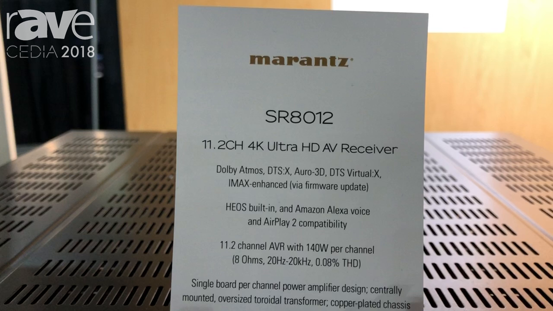 CEDIA 2018: Marantz Discusses SR-8012 Amplifier