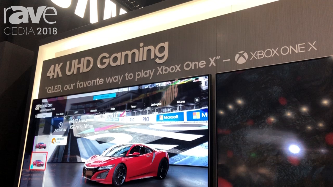 CEDIA 2018: Samsung Demos Auto Game Mode Feature for TVs, Partnered with Microsoft XBOX ONE