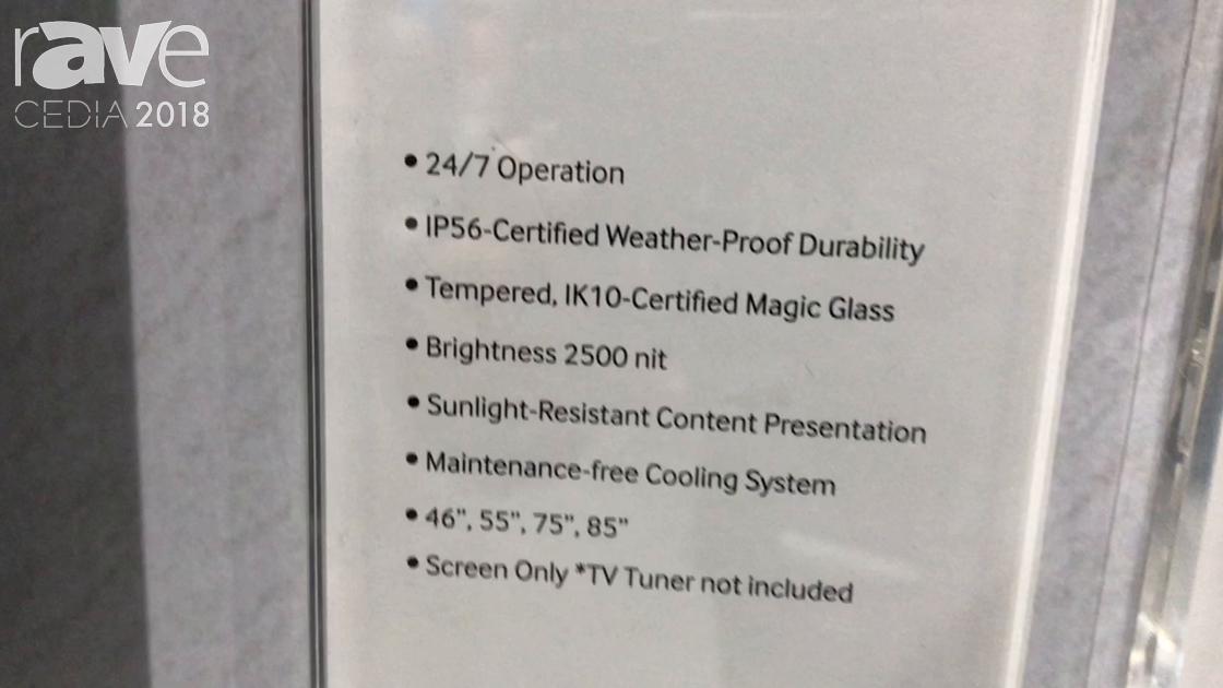 CEDIA 2018: Samsung Exhibits OH75F Outdoor Signage Display