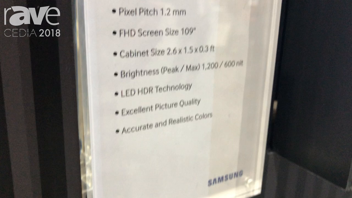 CEDIA 2018: Samsung Talks About IF012J 1.2mm Pitch LED Wall
