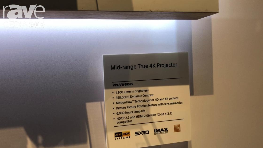 CEDIA 2018: Sony Electronics Debuts VW695ES Middle-Range 4K Projector