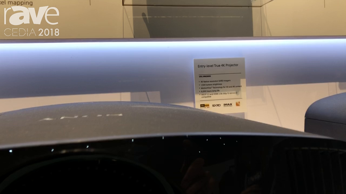 CEDIA 2018: Sony Electronics Shows VW295ES Entry Level 4K Projector