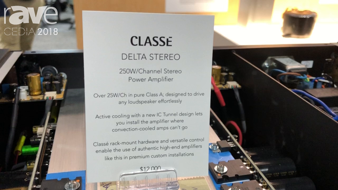 CEDIA 2018: Sound United Discusses CLASSE Delta Stereo Channel Amplifier