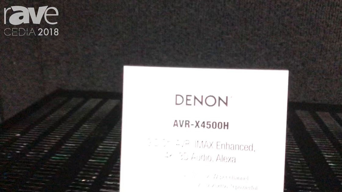 CEDIA 2018: Sound United Highlights Denon Professional AVR-X4500H Receiver With Alexa
