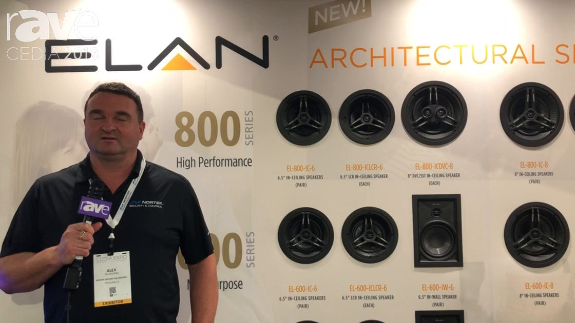 CEDIA 2018: ELAN Presents Architectural Line of Speakers at Nortek Booth