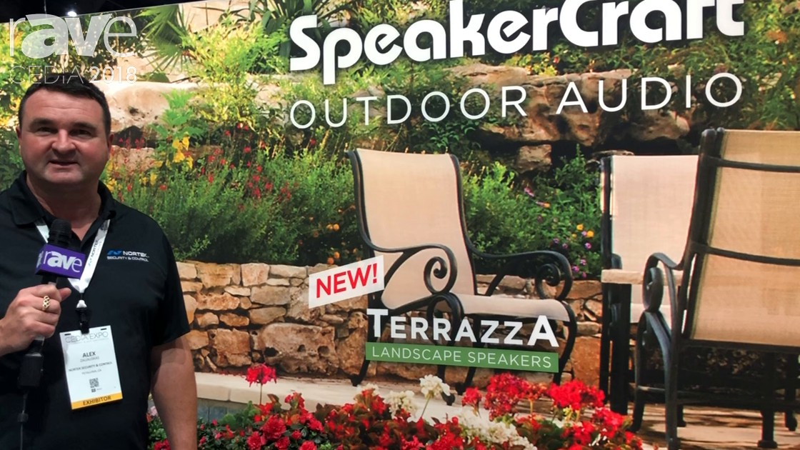 CEDIA 2018: Nortek Security Shows Off Terrazza Landscape Speakers by SpeakerCraft
