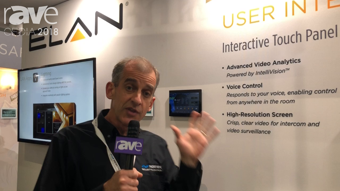 CEDIA 2018: Nortek Security Talks About Facial Recognition in ELAN Interactive Touchpanels