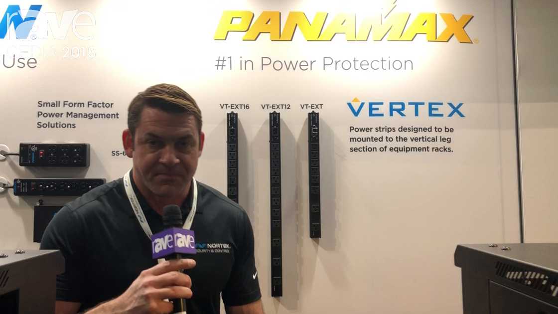 CEDIA 2018: Panamax Discusses Vertex Family of Power Distribution Units at the Nortek Security Booth