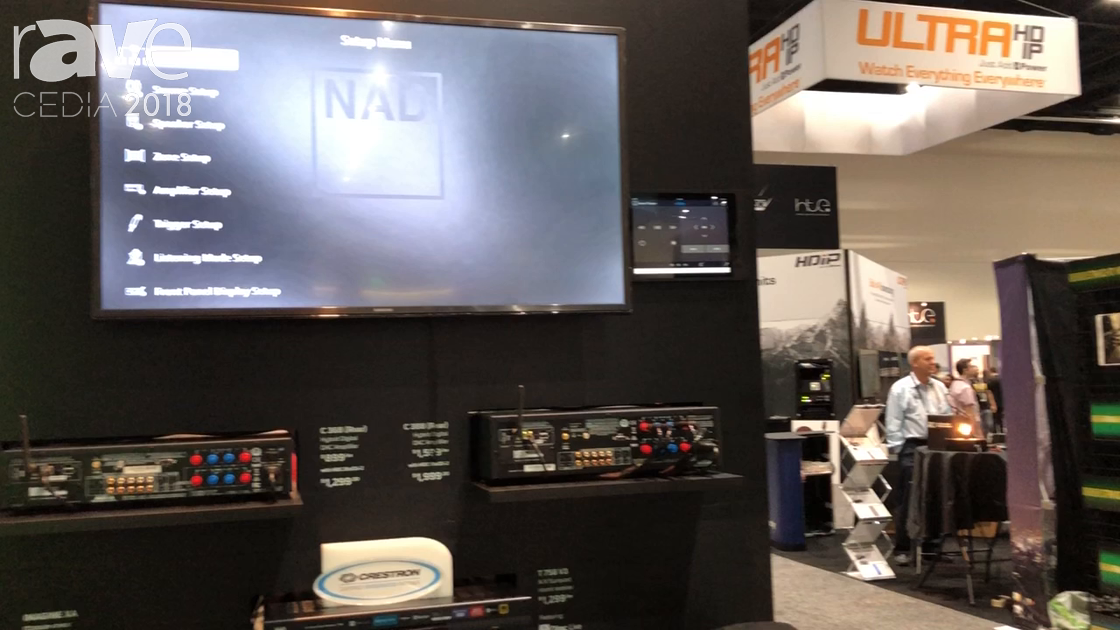 CEDIA 2018: NAD Electronics Highlights Crestron Ping Integration