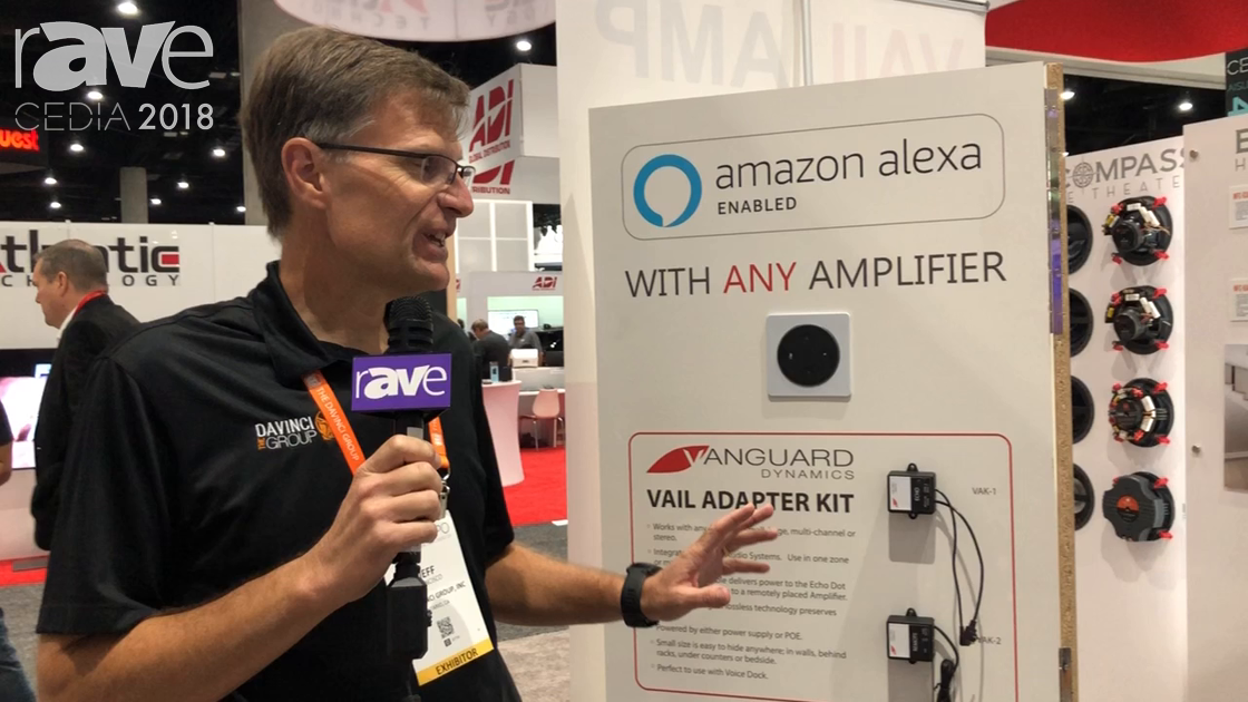 CEDIA 2018: The DaVinci Group Shows Vail Adapter Kit to Connect an Amazon Echo Dot to Any Amplifier