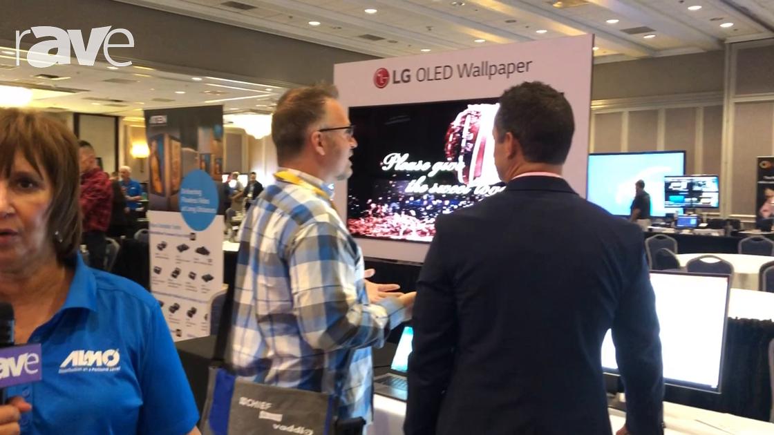 E4 AV Tour: LG Showcases 49UH5C 4K Display, Curved Desktop Monitor and LG OLED Wallpaper