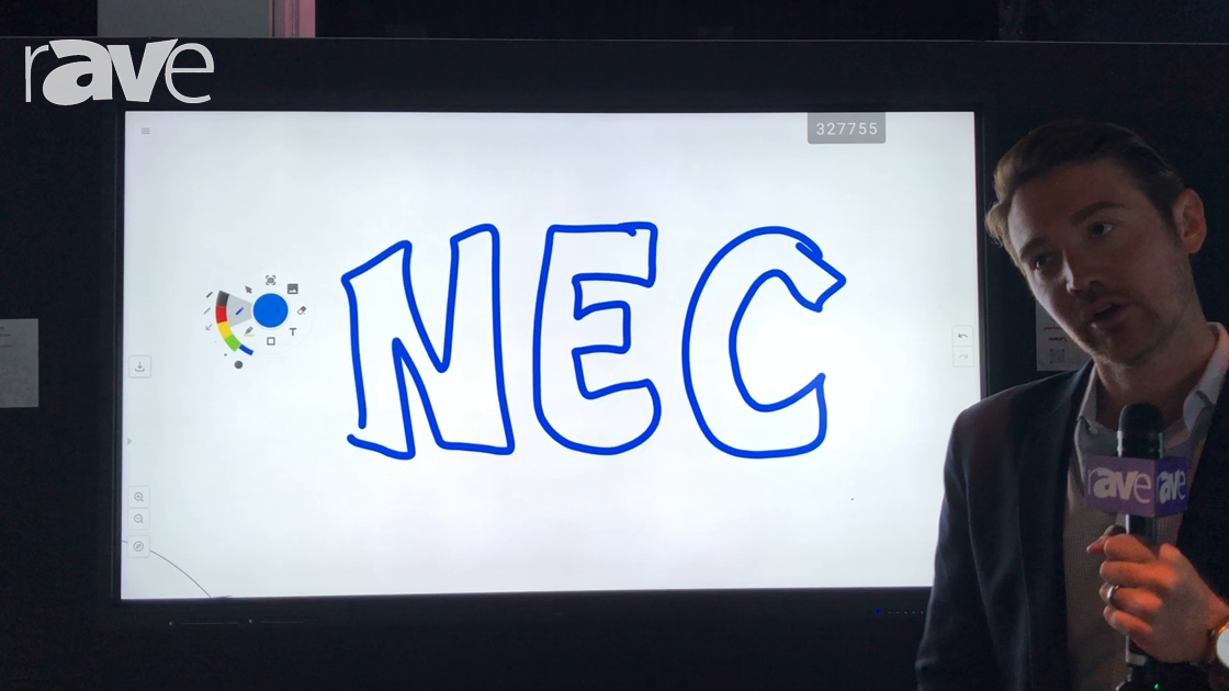 NEC NY Showcase: NEC Display Features CB861Q Collaboration Display
