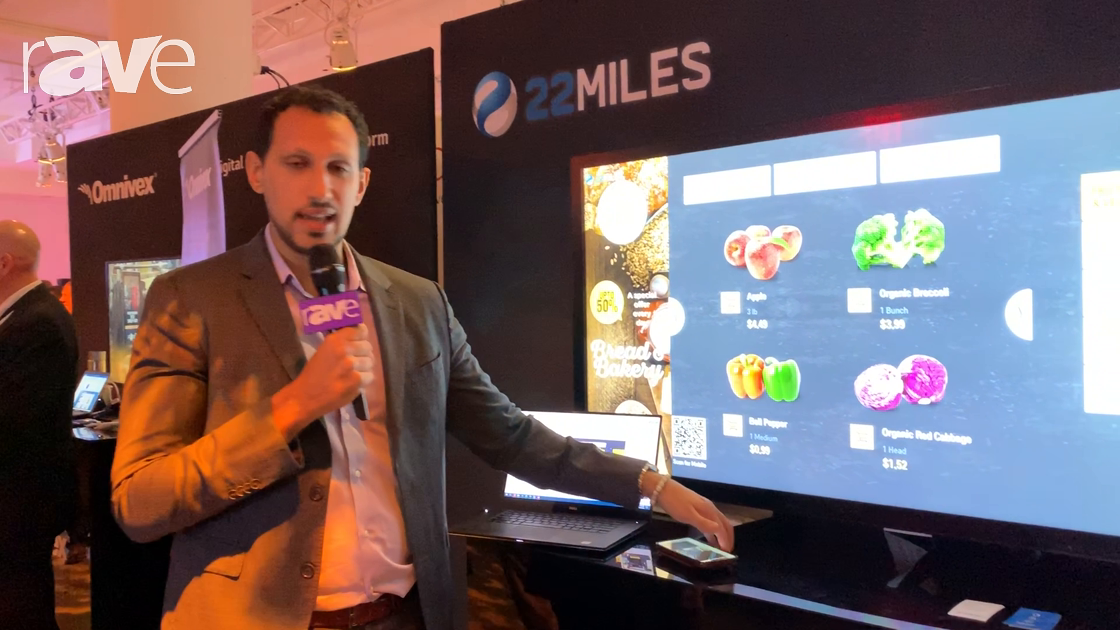 NYDSW 2018: 22MILES Wayfinding Demos HTML5 Solutions on LG webOS Touchscreen Application