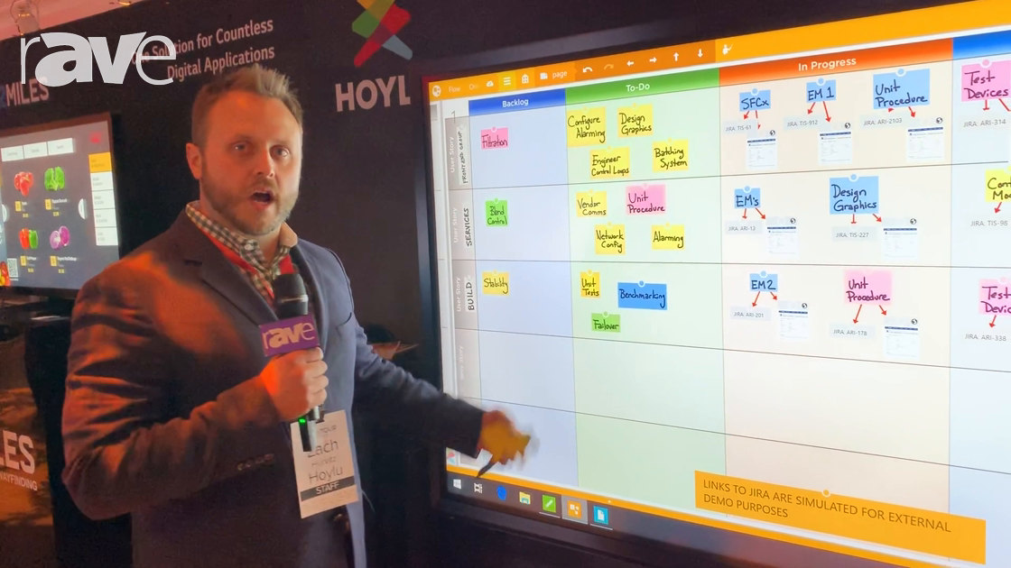 NYDSW 2018: Hoylu Demos Collaboration Software on LG 86″ In-Glass Touch Display
