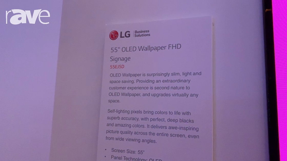 NYDSW 2018: LG Discusses 55EJ5D OLED Wallpaper Display