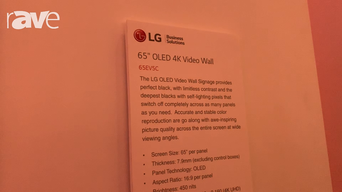 NYDSW 2018: LG Features 65EV5C OLED 4K Video Wall