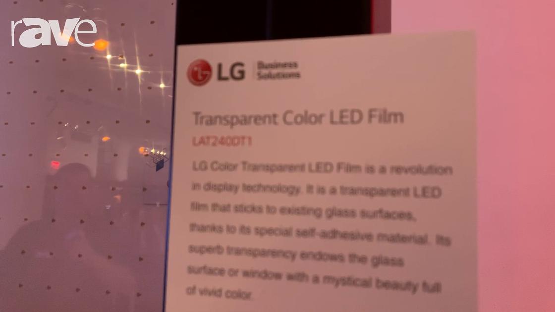 NYDSW 2018: LG Showcases LAT240DT1 Transparent Color LED Film