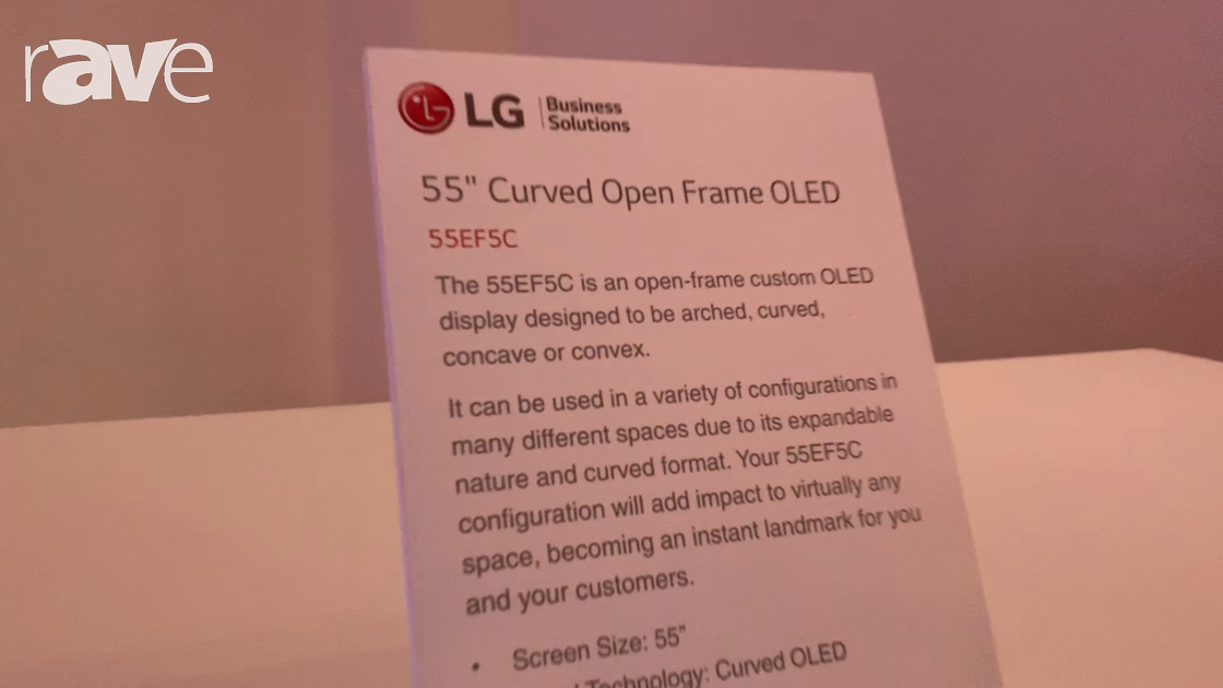 NYDSW 2018: LG Shows Off 55EF5C Curved Open Frame OLED Display