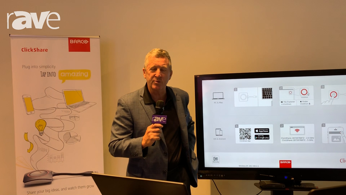NYDSW 2018: Barco Demos New Touch Back Addition to ClickShare Product
