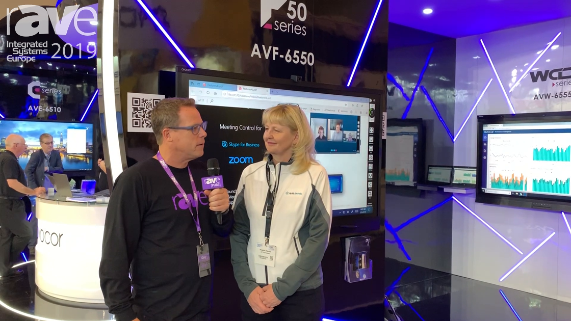 ISE 2019: Gary Kayye Interviews Angela Hlavka of UC WorkSpace About Quicklaunch 4