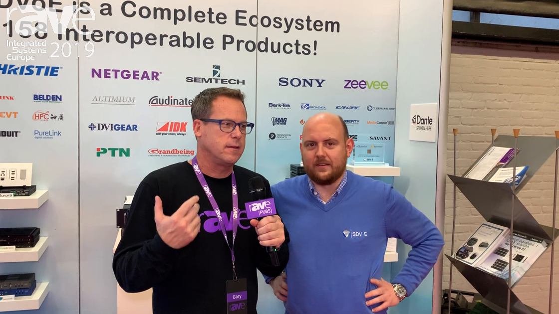 ISE 2019: Gary Kayye Gets a Tour of the SDVoE Alliance Booth from Justin Kennington