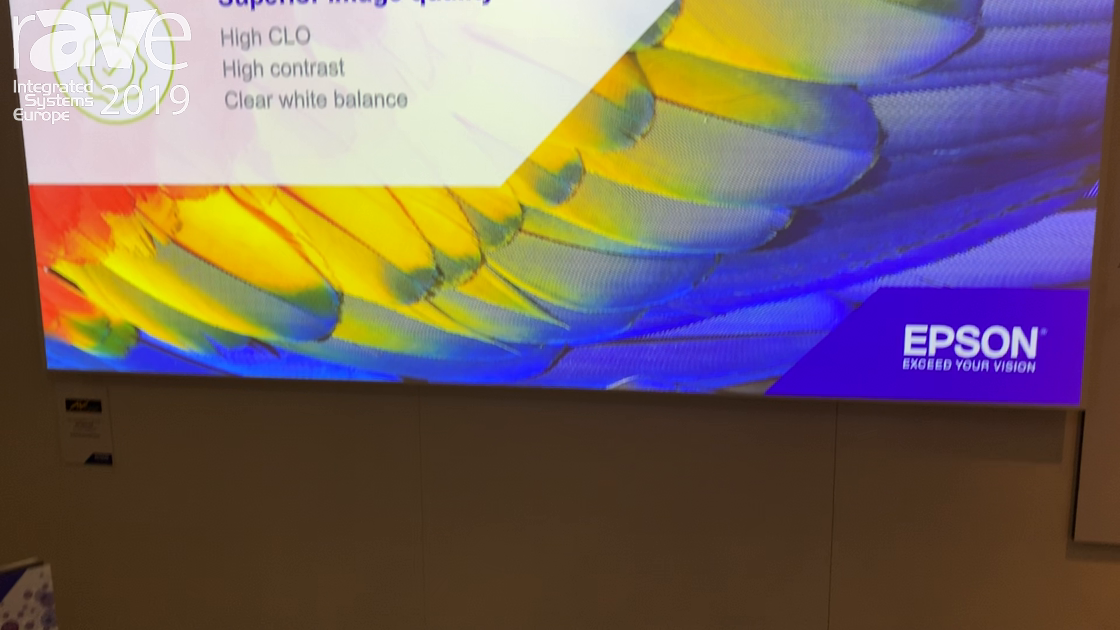ISE 2019: Epson Showcases the EB-L1070U Projector