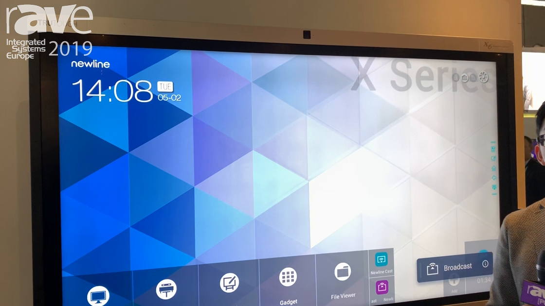 ISE 2019: Newline Interactive Showcases Its X6 Collaboration Touch Screen