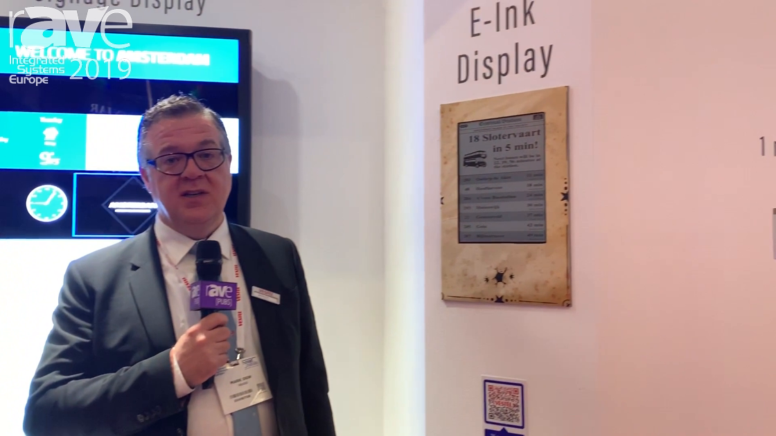 ISE 2019: Vestel Demos Its New 13″ E-Ink Eco Display With Cloud Solution and Solar Powering