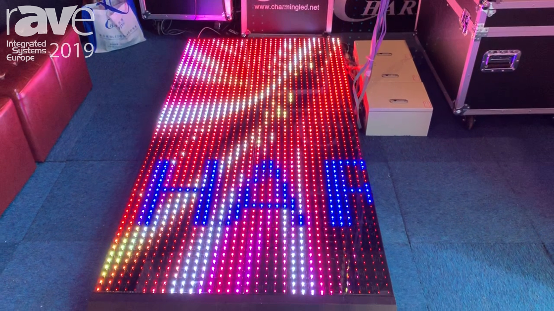 ISE 2019: Charming LED Shows Off LED Display Dancefloor for Floor & Stage Use