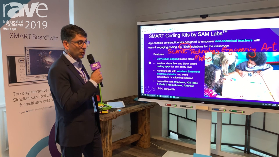 ISE 2019: SMART Technologies Shows STEAM Coding Kits by SAM Labs