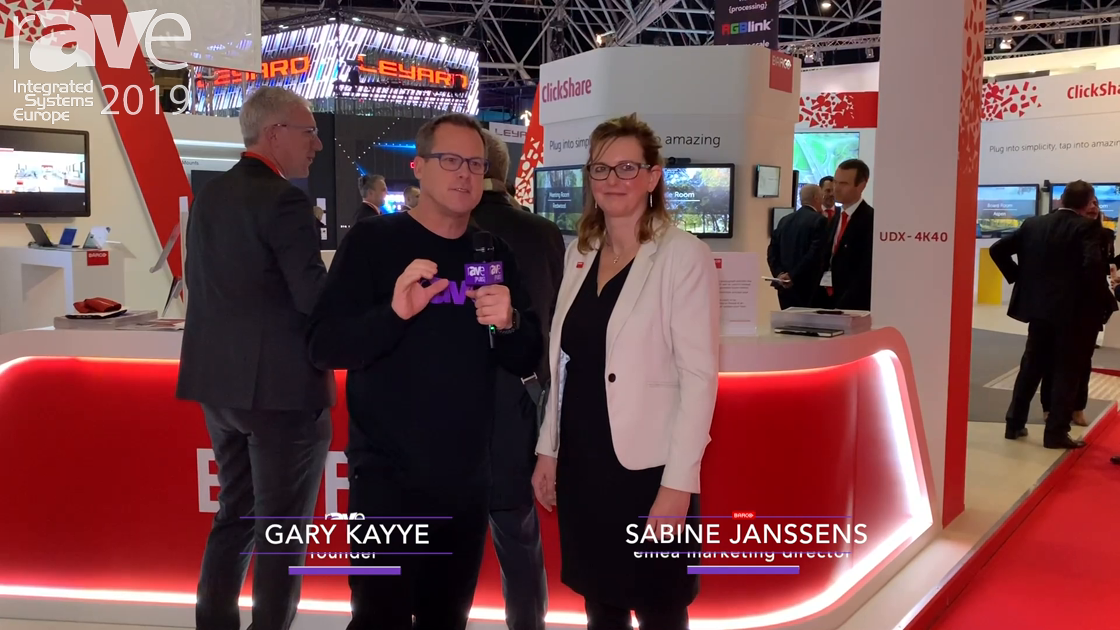 ISE 2019: Gary Kayye Gets a Tour of Barco's Stand with Sabine Janssens, EMEA Marketing Director