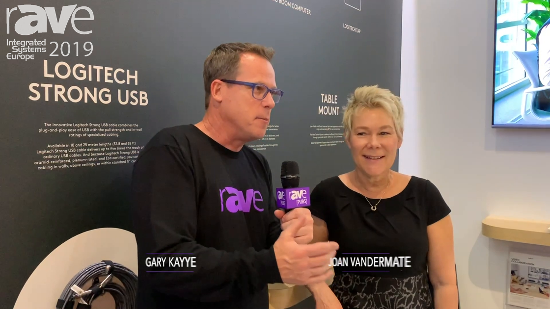 ISE 2019: Gary Kayye Interviews Logitech Head of Marketing Joan Vandermate