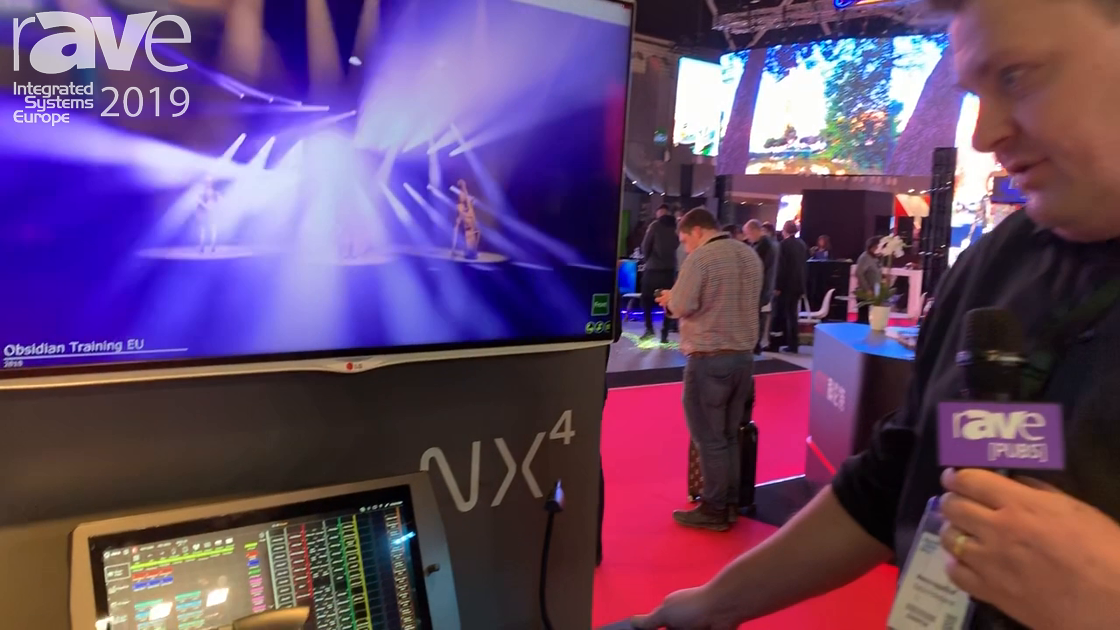 ISE 2019: Obsidian Controls Presents NX4 Lighting Console On Elation Professional Stand