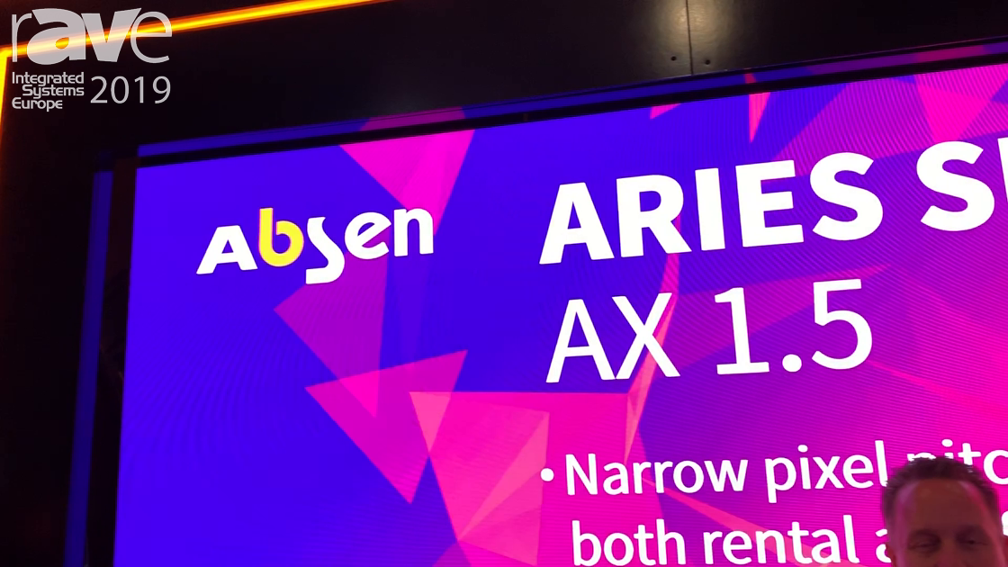 ISE 2019: Absen Showcases the Aries 1.5mm Rental Display
