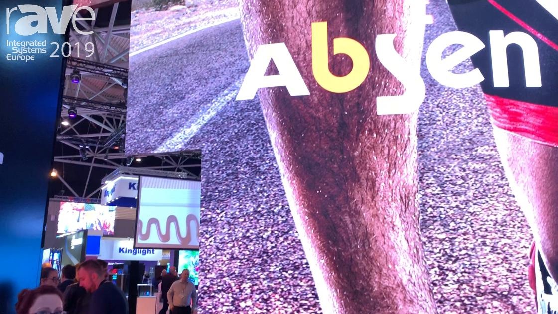 ISE 2019: Absen Features the Polaris Series Indoor & Outdoor Rental Staging Display