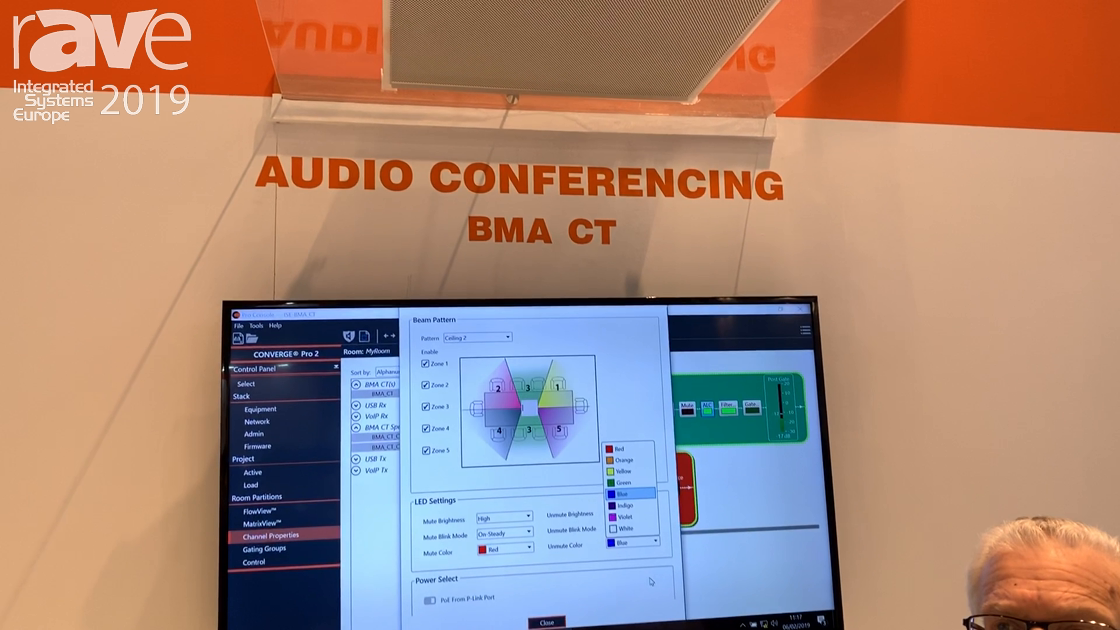 ISE 2019: ClearOne Talks About Its Ceiling Tile Mic Array